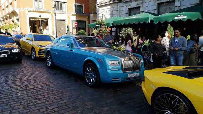 Trio of supercars in London's Covent Garden get parking tickets