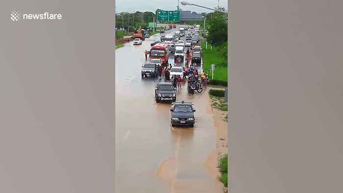 Floods kill six people as Tropical Storm Podul batters northern Thailand