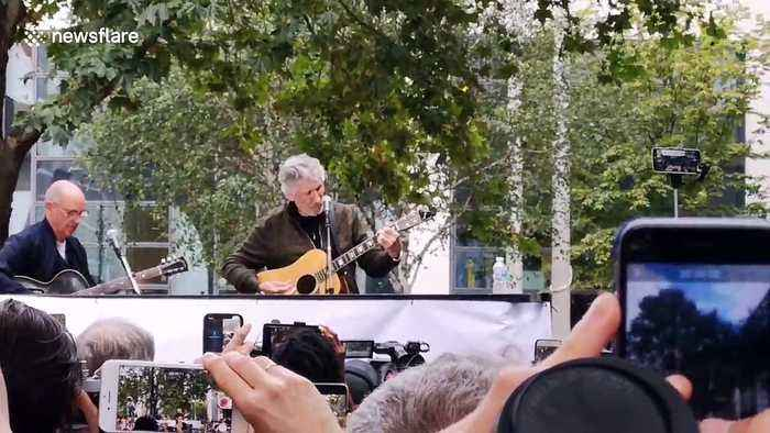 Pink Floyd's Roger Waters performs at benefit for Julian Assange in London
