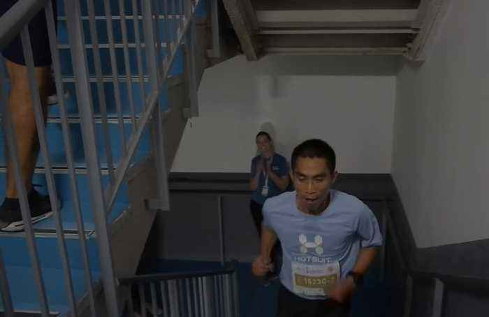 Athletes scale the heights in gruelling Beijing vertical run