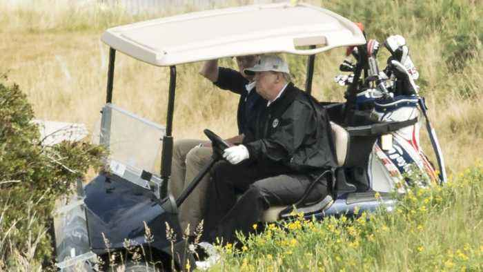 On Labor Day, Trump Lounges At His Golf Course As Dorian Threatens Millions