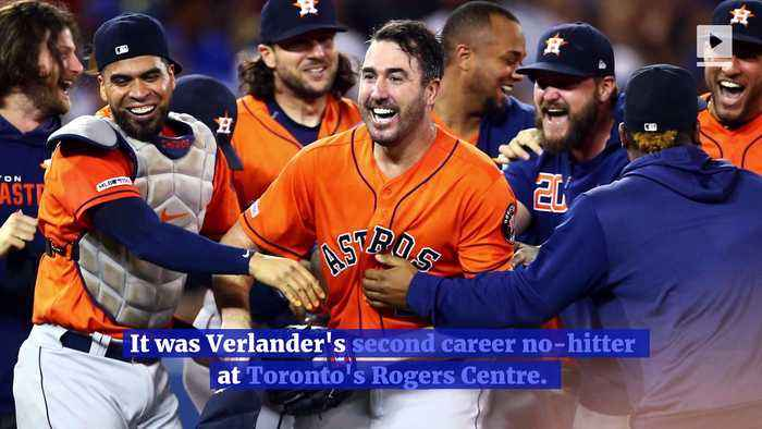 Justin Verlander Pitches Third Career No-Hitter