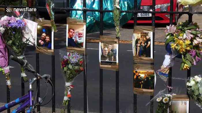 Flowers and tributes laid out in Watford for murdered man