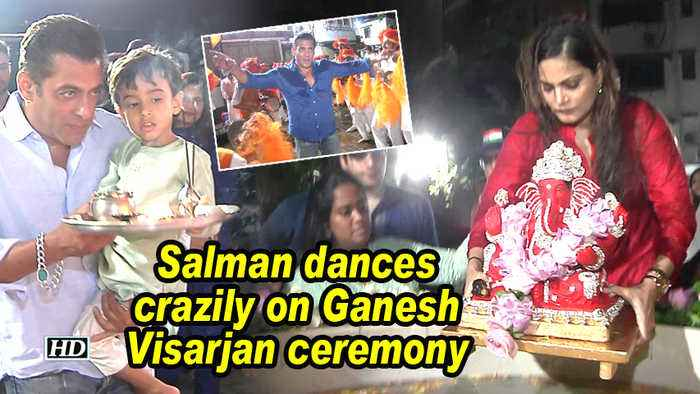 Salman dances crazily on Ganesh Visarjan ceremony