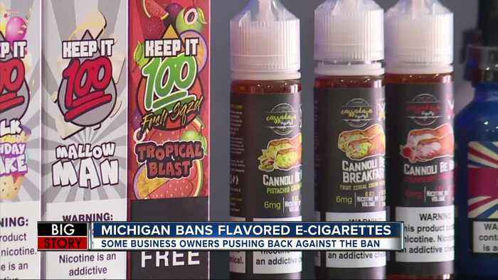 Michigan becomes first state to ban flavored e-cigarettes today