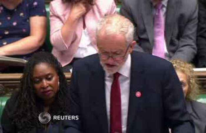 A 'big girl's blouse' - UK PM Johnson taunts Corbyn on election