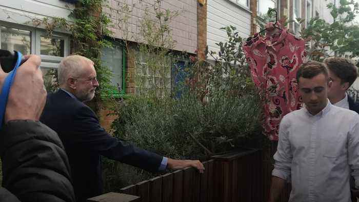 Jeremy Corbyn handed 'big girl's blouse' as gift
