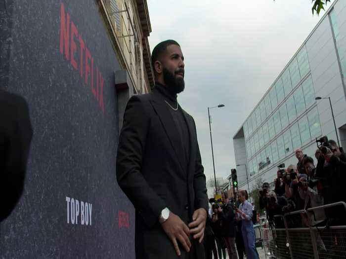 Drake attends Top Boy premiere in Hackney