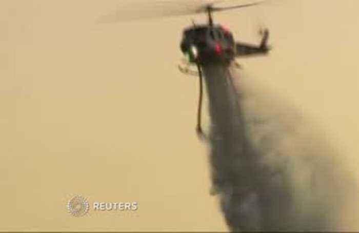 Tenaja fire threatening homes in southern California