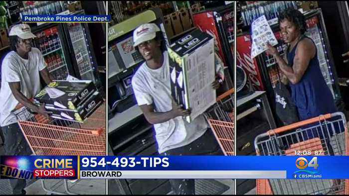Caught On Cam: Pines Police Looking For Pair Accused Of Shoplifting At Home Depot