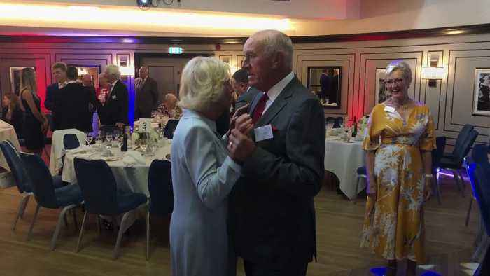 Duchess of Cornwall dances with former Strictly judge Len Goodman