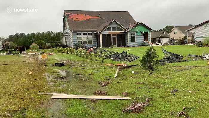 North Carolina homes in ruins from wrath of Hurricane Dorian as storm continues