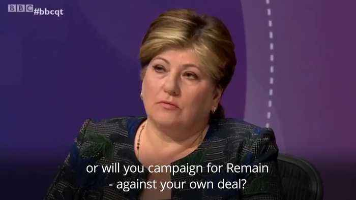 Emily Thornberry questioned over Labour's Brexit policy on Question Time