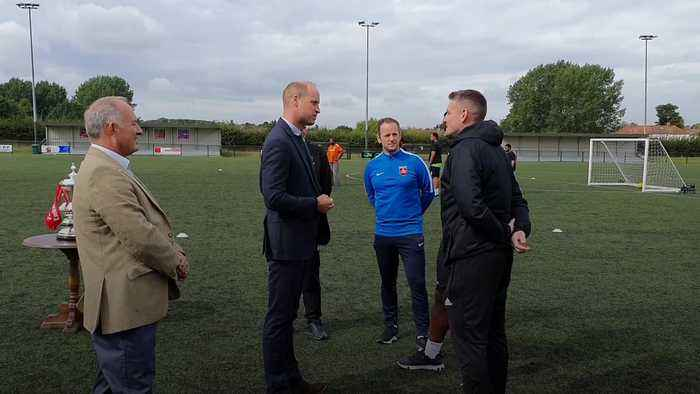 Duke of Cambridge tackles mental health issues and racism during football club visit