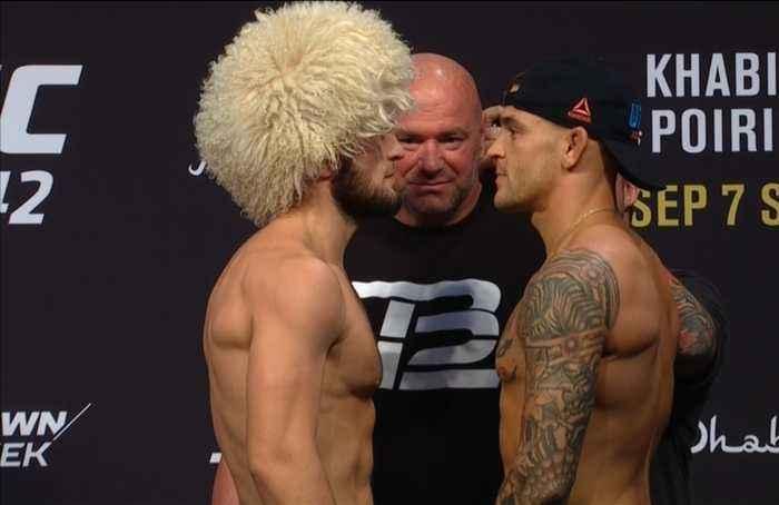 Khabib and Poirier face off ahead of UFC 242 showdown