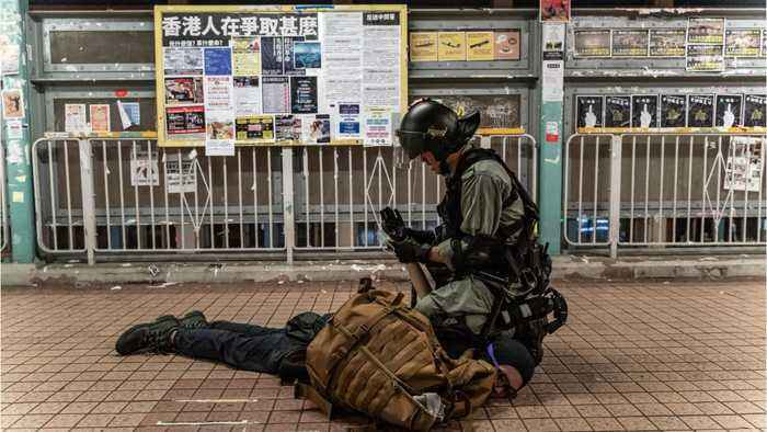 Hong Kong Police Fire Tear Gas After Airport Protest
