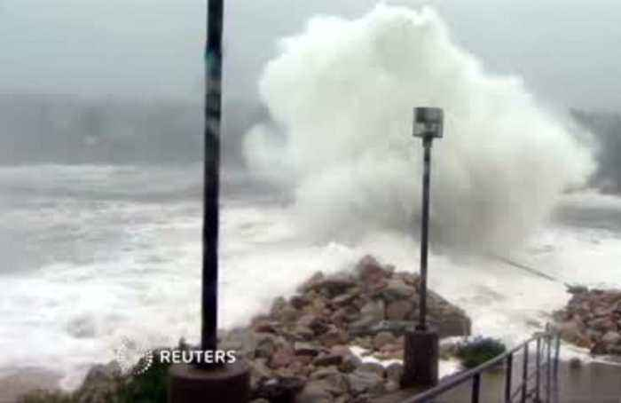 Hurricane Dorian whips up waves as it approaches Canada