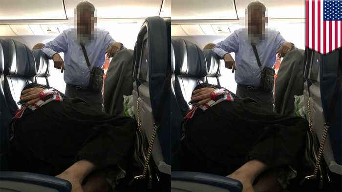 Man stands for 6 hours on flight while wife passes out on 3 seats