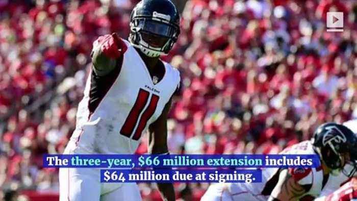 Julio Jones Becomes NFL's Highest-Paid Wide Receiver