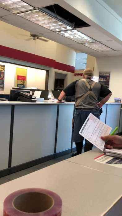 Postal Customer Slinging Slurs