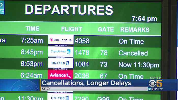 Hundreds Of Flights Delayed, Canceled At SFO Due To Runway Construction