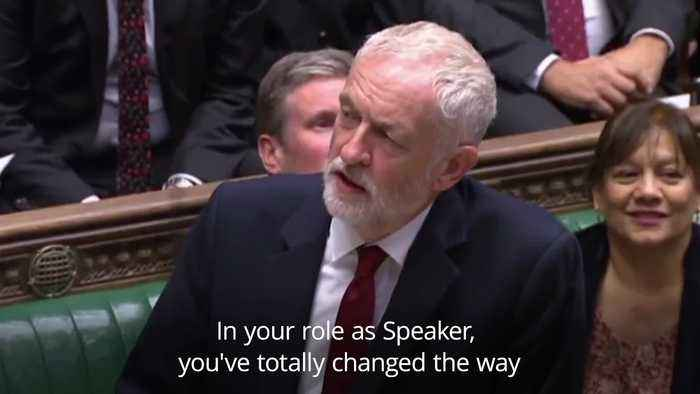 Corbyn and Gove applaud Bercow's role as Speaker