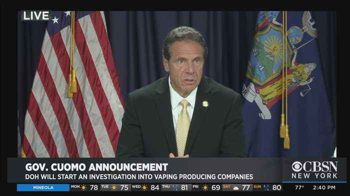Gov. Andrew Cuomo Announcement On Vaping