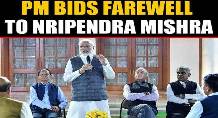PM bids farewell to trusted Principal Secretary Nripendra Mishra   OneIndia News