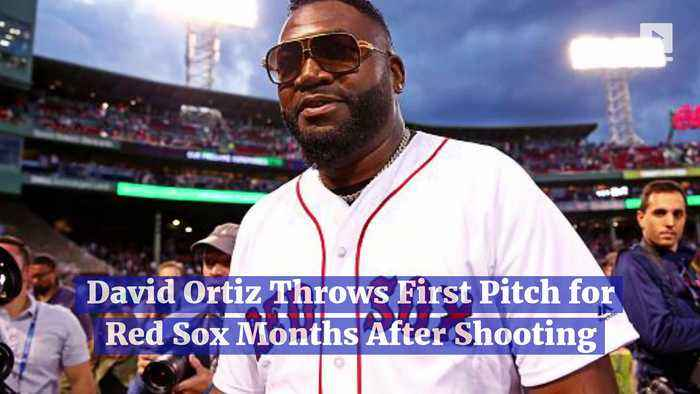 David Ortiz Throws First Pitch for Red Sox Months After Shooting