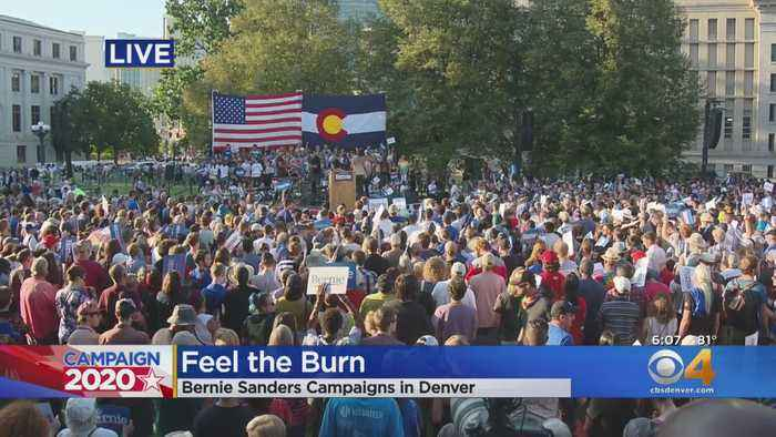 Bernie Sanders Holds Campaign Rally At Denver's Civic Center Park