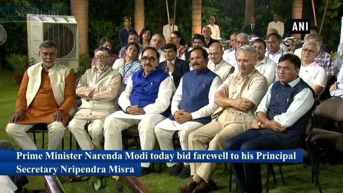 PM Modi bids farewell to Principal Secretary Nripendra Bisra