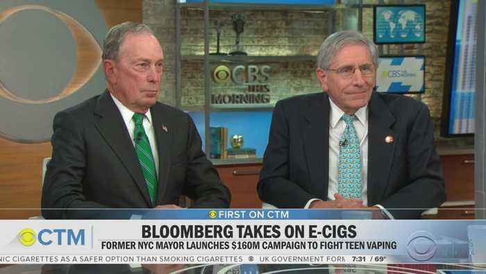Former Mayor Bloomberg Unveils Anti-Youth-Vaping Initiative