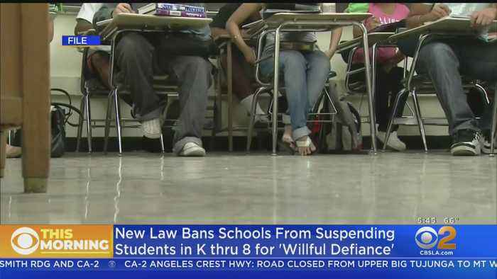 Gov. Newsom Signs Bill Banning The Suspension Of Students For 'Willful Defiance'
