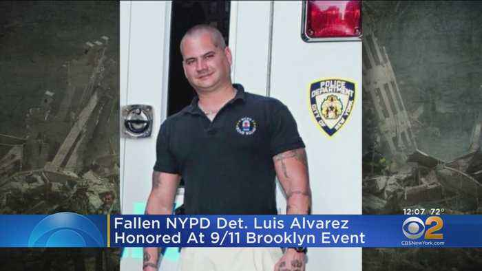 Det. Lou Alvarez Honored At 9/11 Remembrance Ceremony In Brooklyn