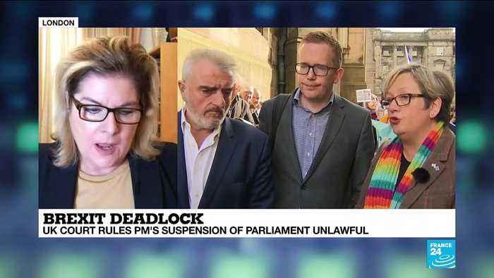 Scottish court rules parliament suspension 'unlawful'