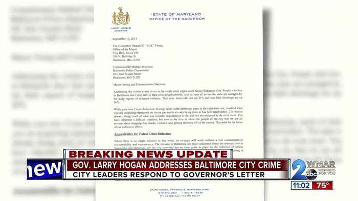 City leaders respond to Governor's letter on Baltimore crime