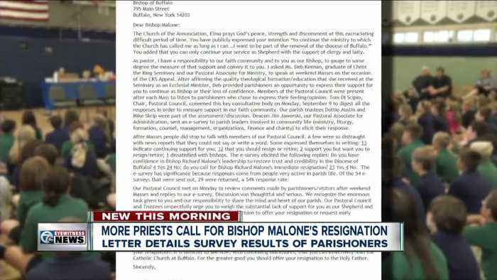 A parish in the Southtowns is calling for Bishop Malone's resignation