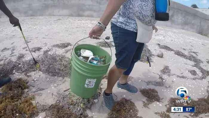Beach clean up groups working harder due to Hurricane Dorian