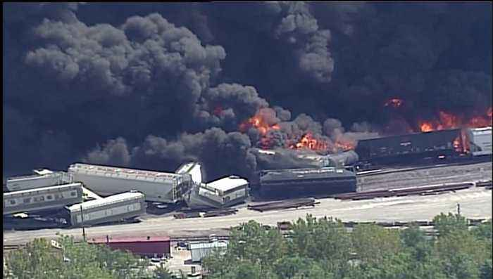'It Was Just Chaos': Train Derailment in Illinois Sparks Fire, Evacuating Hundreds