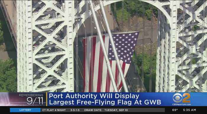 Port Authority Flies American Flag At GWB