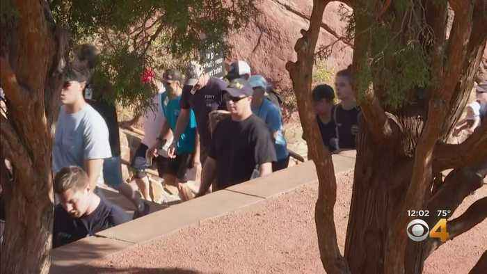 Climb Up Red Rocks Stairs Honors Firefighters, Others Killed On 9/11