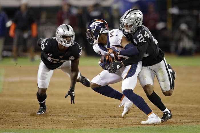 RAIDERS: Head coach John Gruden, quarterback Derrick Carr on Johnathon Abram injury