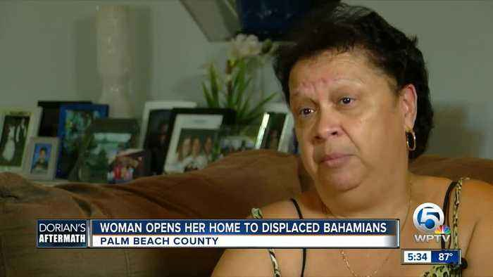 Woman opens her home to displaced Bahamians