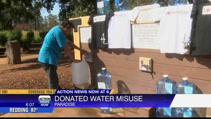 Drinking water misuse in Paradise