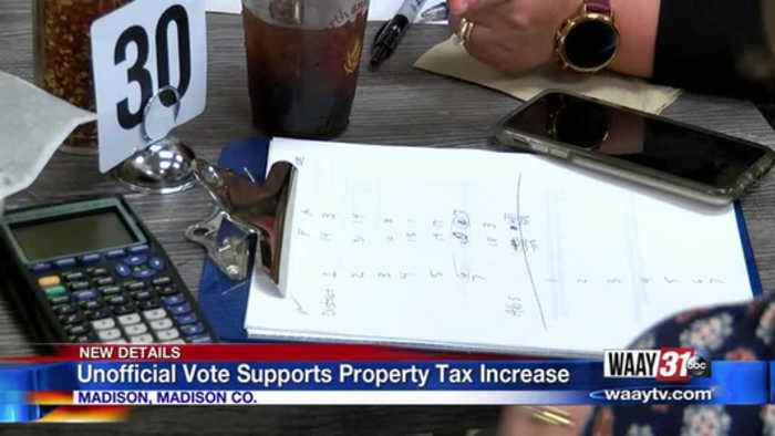 Unofficial vote supports property tax increase