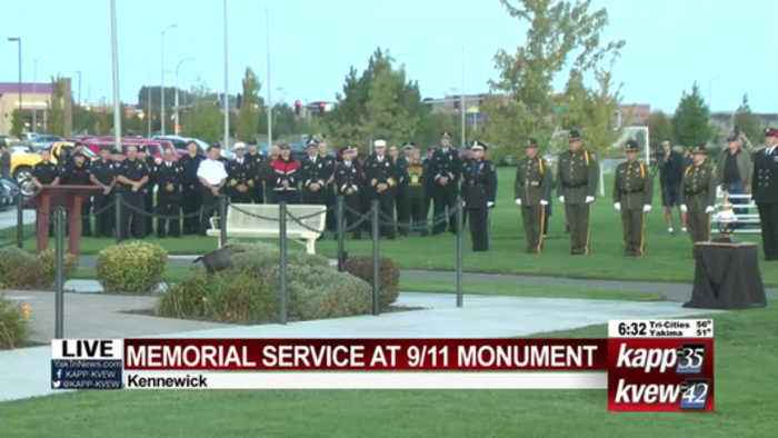 City of Kennewick hosts 9/11 memorial service at WTC monument