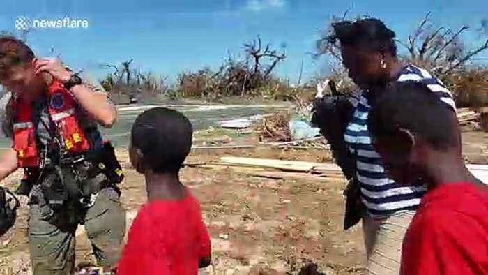 Powerful moment Bahamas residents evacuated by US Coast Guard during Hurricane Dorian