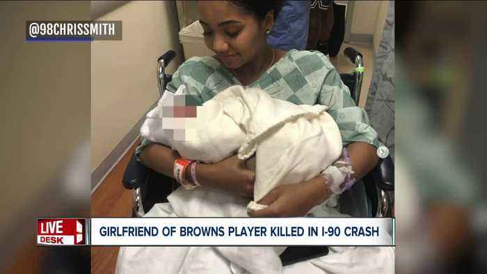 Girlfriend of Browns defensive end Chris Smith killed in crash on I-90