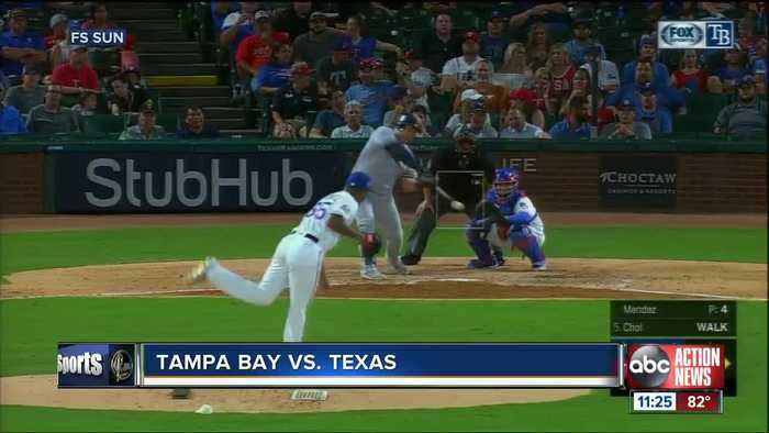 Rougned Odor's home run pushes Texas Rangers past AL wild card-leading Tampa Bay Rays 10-9
