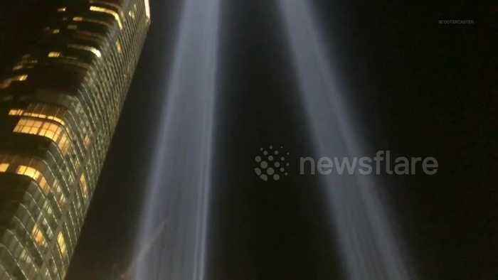 Beams light up New York sky in powerful 9/11 tribute